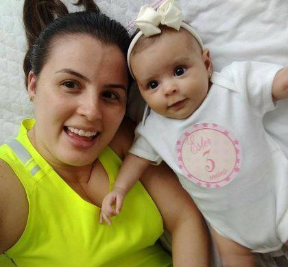 Viviane Beling, mãe da Ester de 8 meses