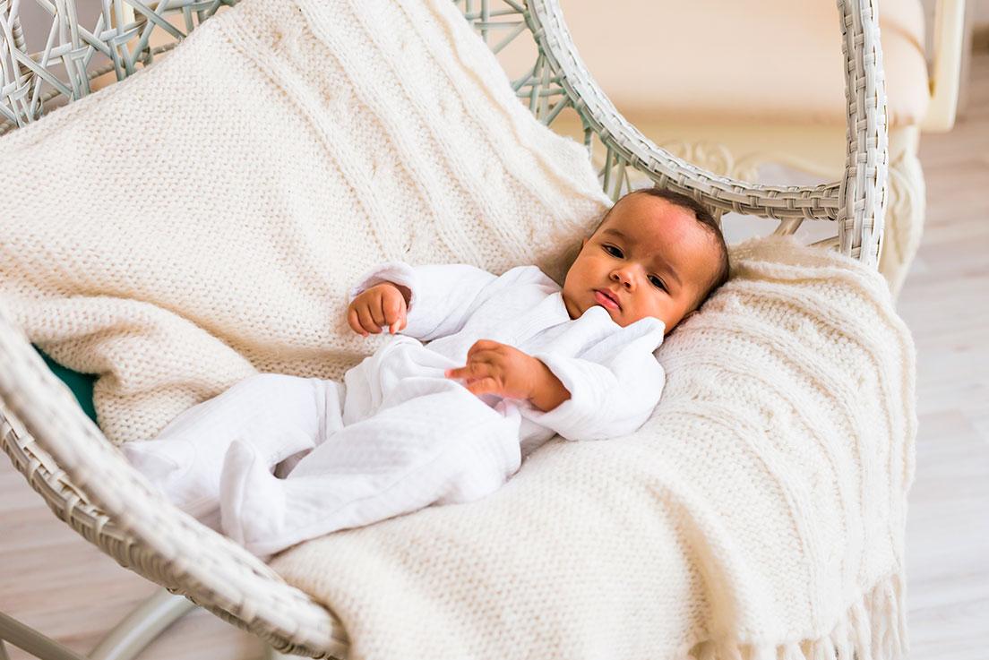 O bebê de 10 meses