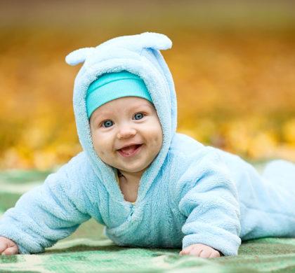 O bebê de 12 meses