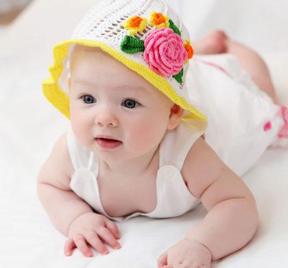 O bebê de 4 meses