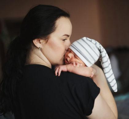 O bebê recém-nascido